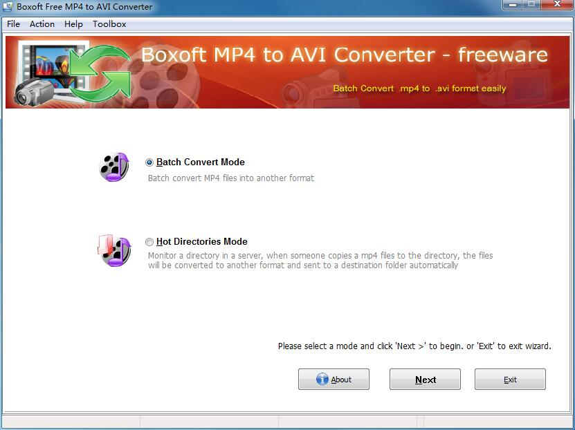 Boxoft Free MP4 to AVI Converter