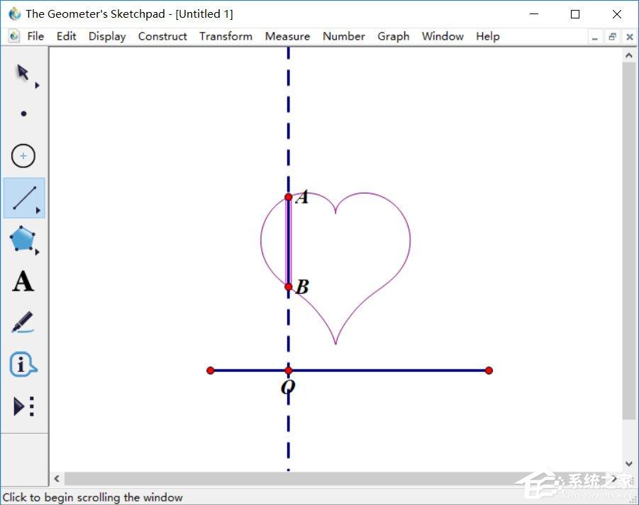 几何画板如何绘制爱心?