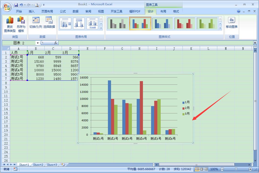 Excel2007怎么制作柱状图?Excel2007柱状图快速生成方法