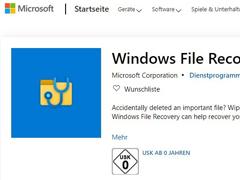 误删文件不用愁!微软应用商店上架Windows文件恢复工具