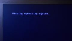 Win7旗舰版电脑开机显示missing operating system怎么办?
