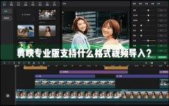 剪映Windows专业电脑版目前支持什么格式的视频导入?
