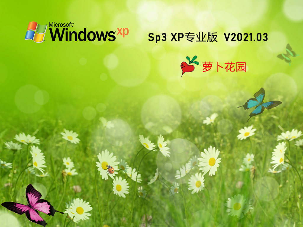 萝卜家园GHOST XP SP3 经典专业版 V2021.03